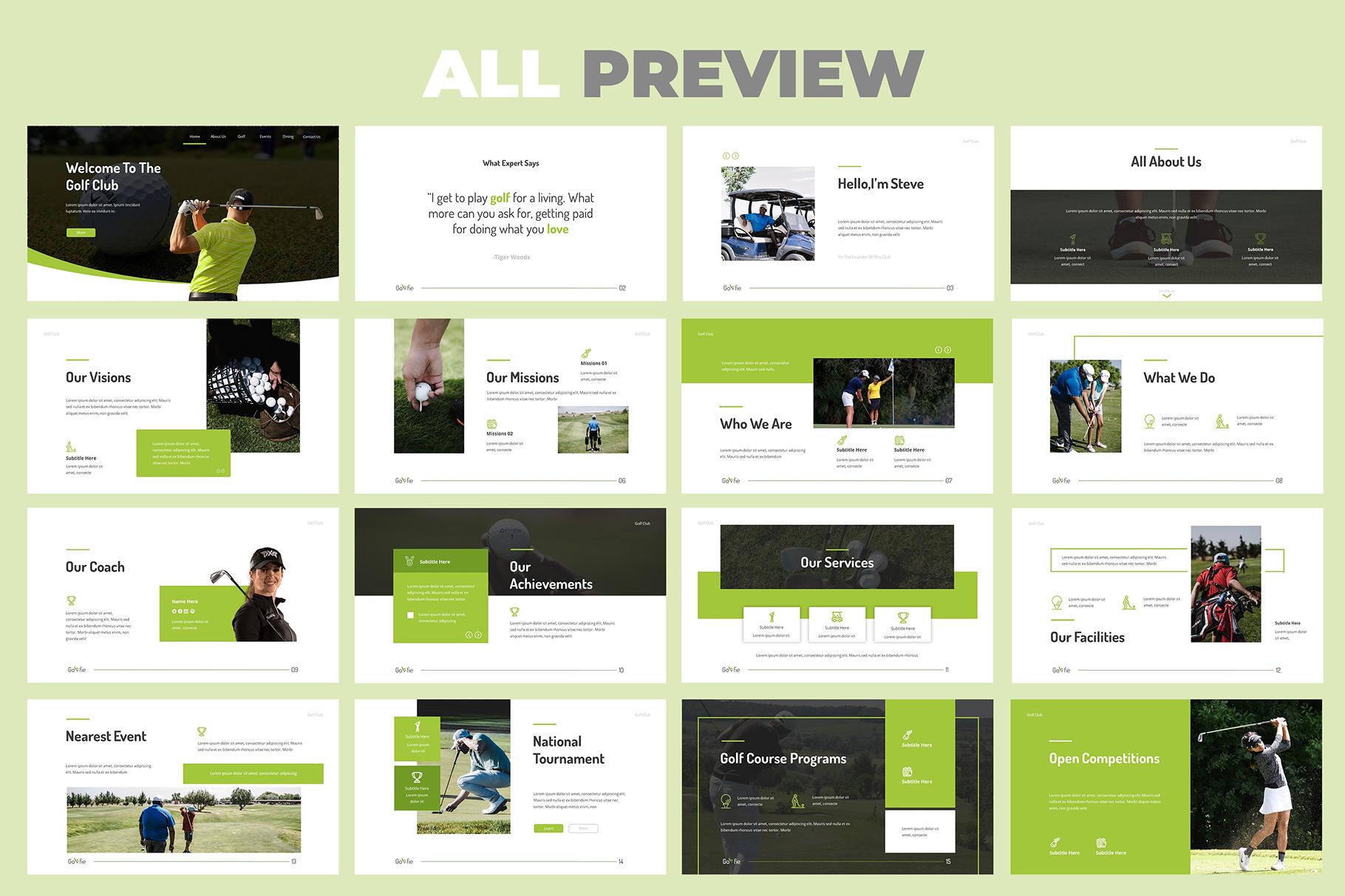 Golfie Golf Keynote Presentation example image 5