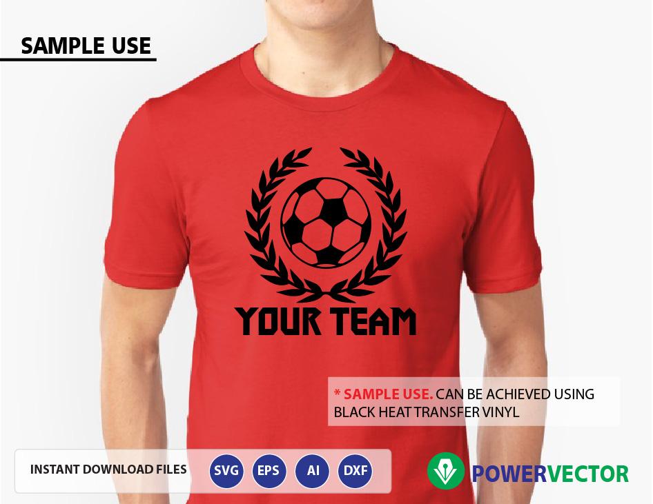 Svg file Soccer. Soccer Team Logo Vector. Soccer balls svg, dxf, png, eps files. Sports Svg Emblem Logo example image 2