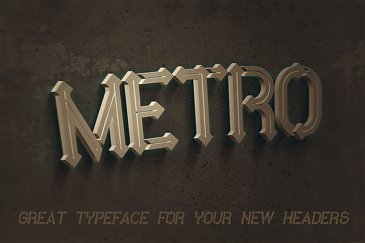 Metro - 10 Fonts Family example image 1
