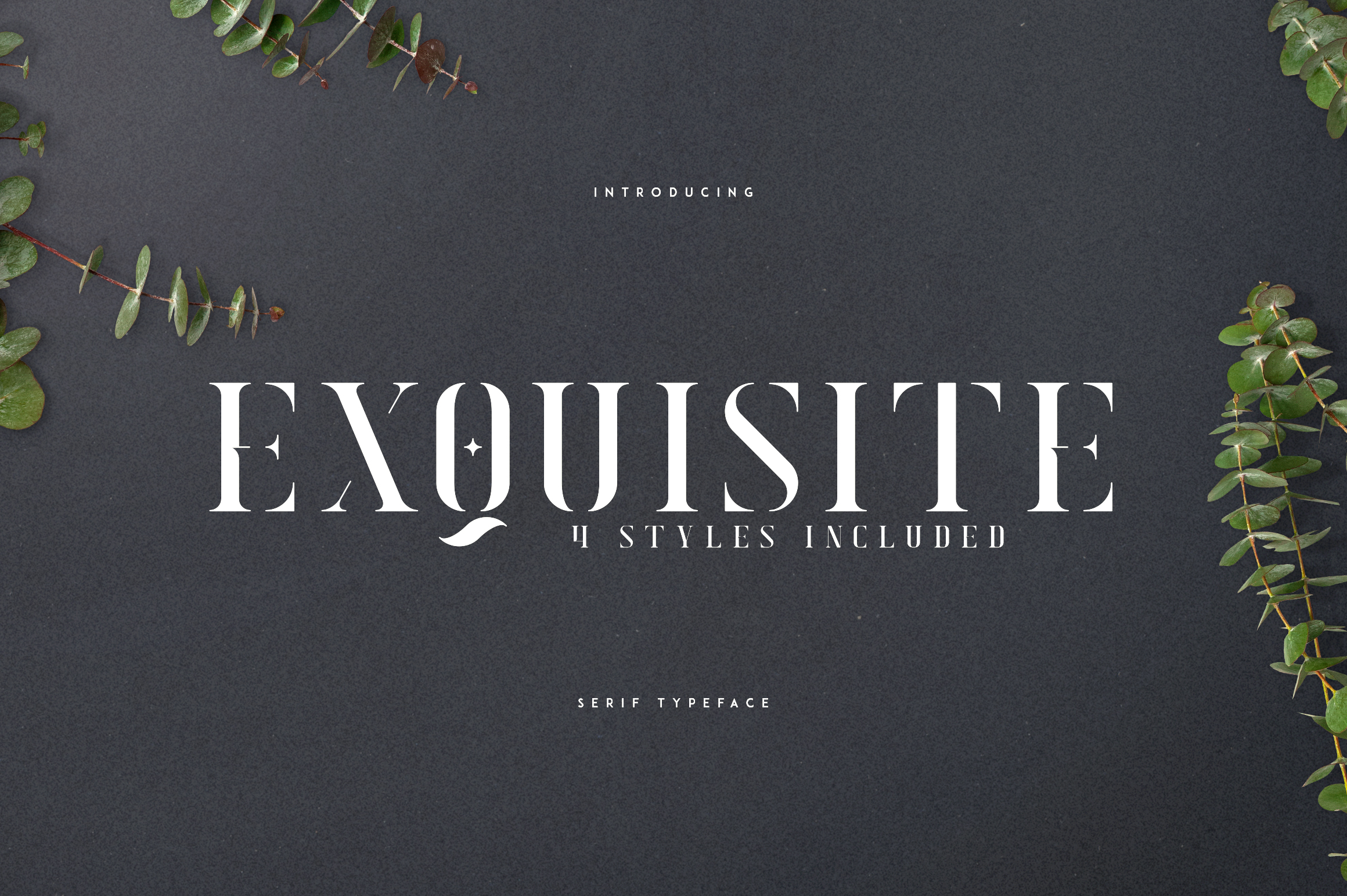 Exquisite - Serif Typeface|4 Styles example image 1