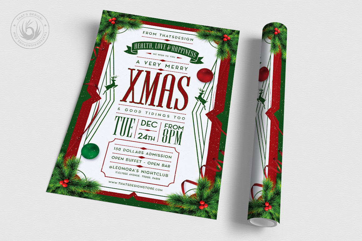 Christmas Eve Flyer Template V8 example image 3