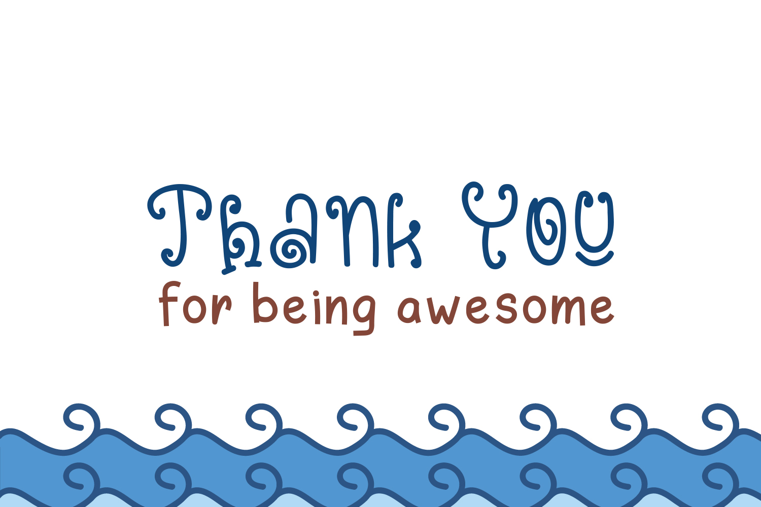 Blue Ocean - Cute and Funny Font example image 9