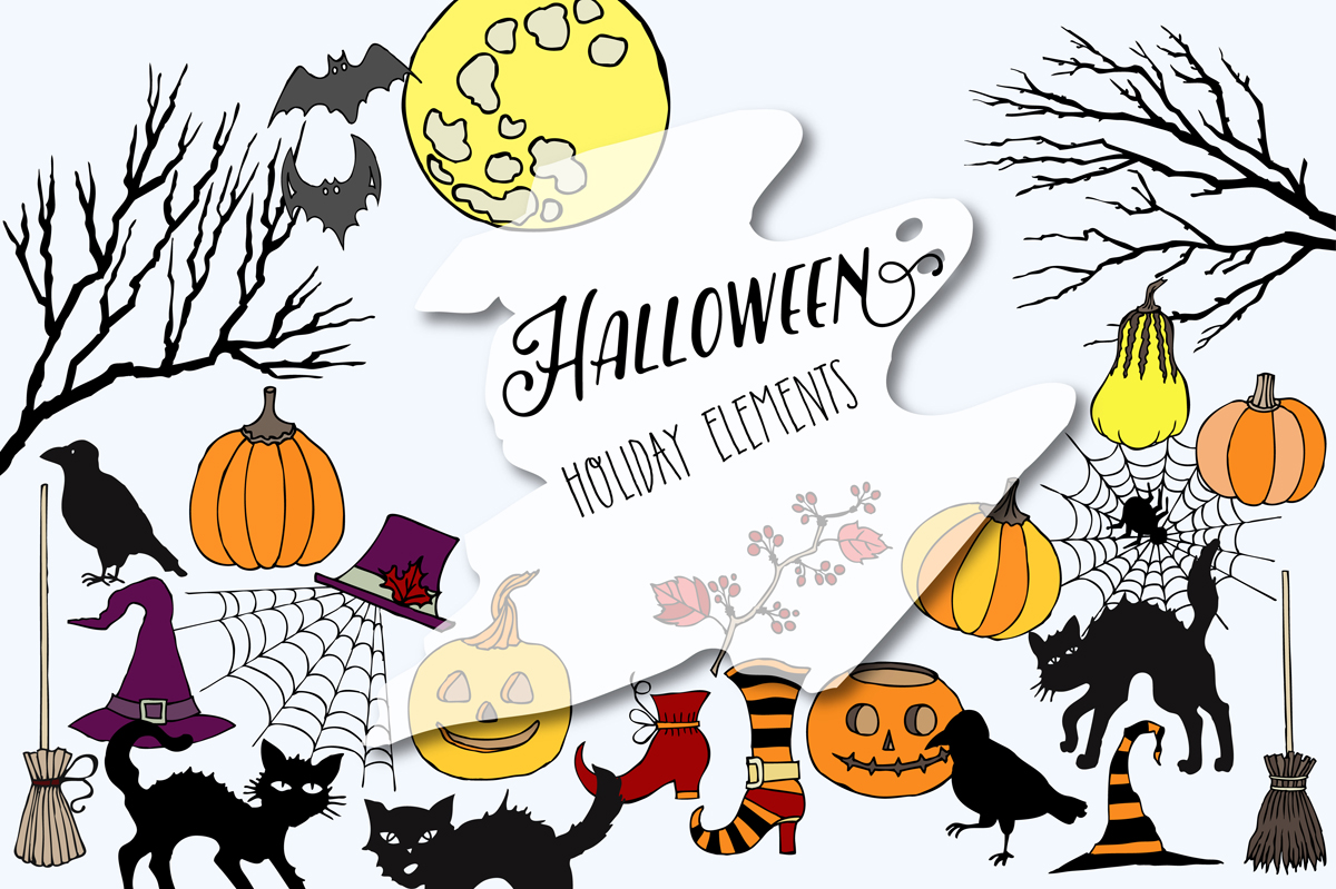 Halloween Colors Clip art example image 4