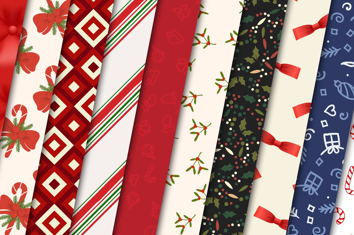 100 Christmas Seamless Patterns example image 4
