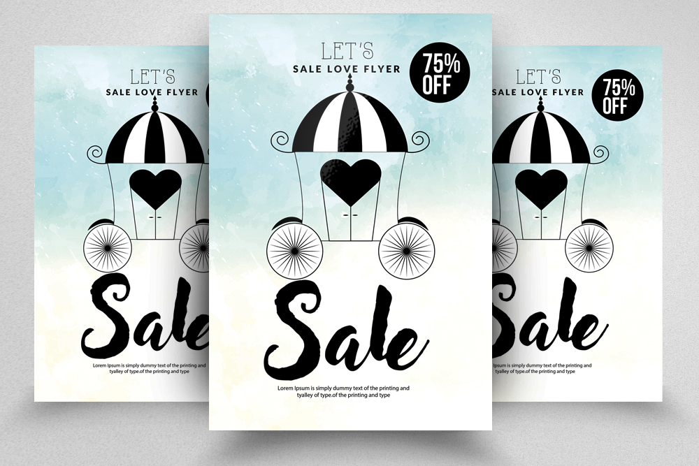 Sale Offer Typography Flyer Template example image 5