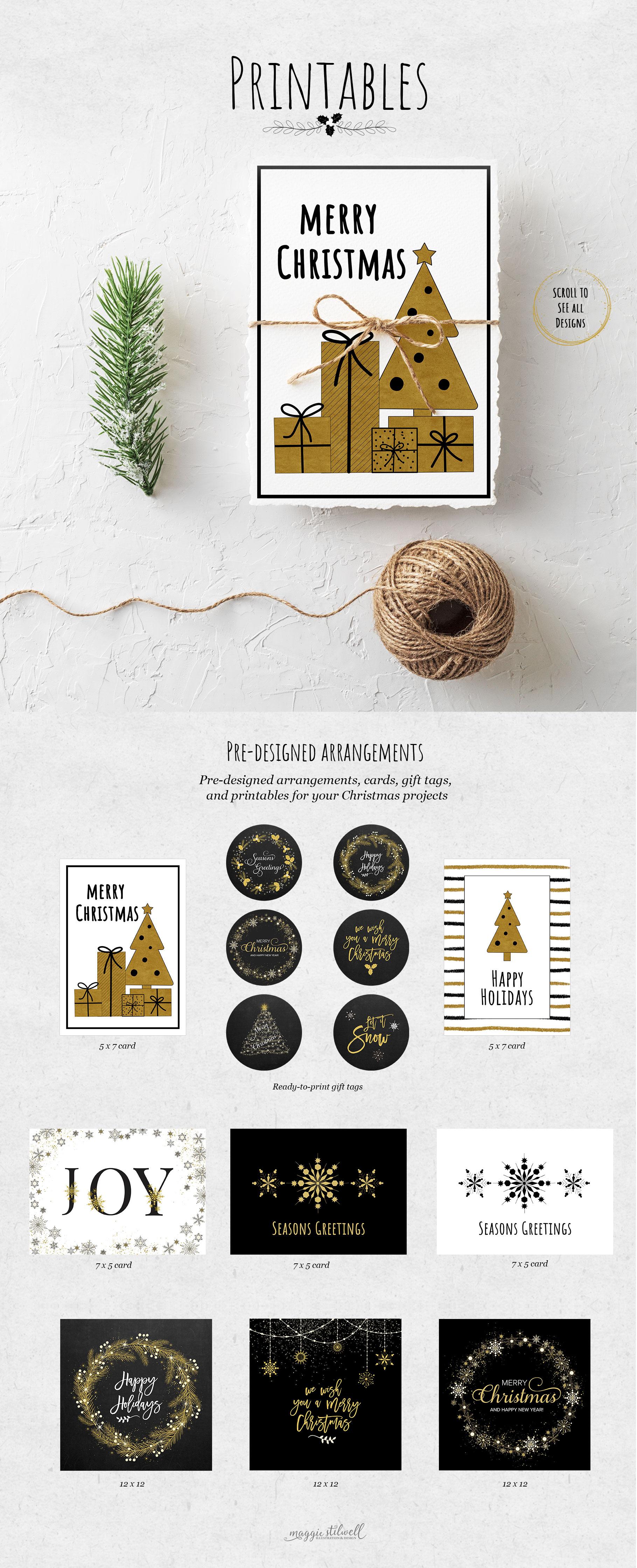 Black & Gold Christmas example image 5