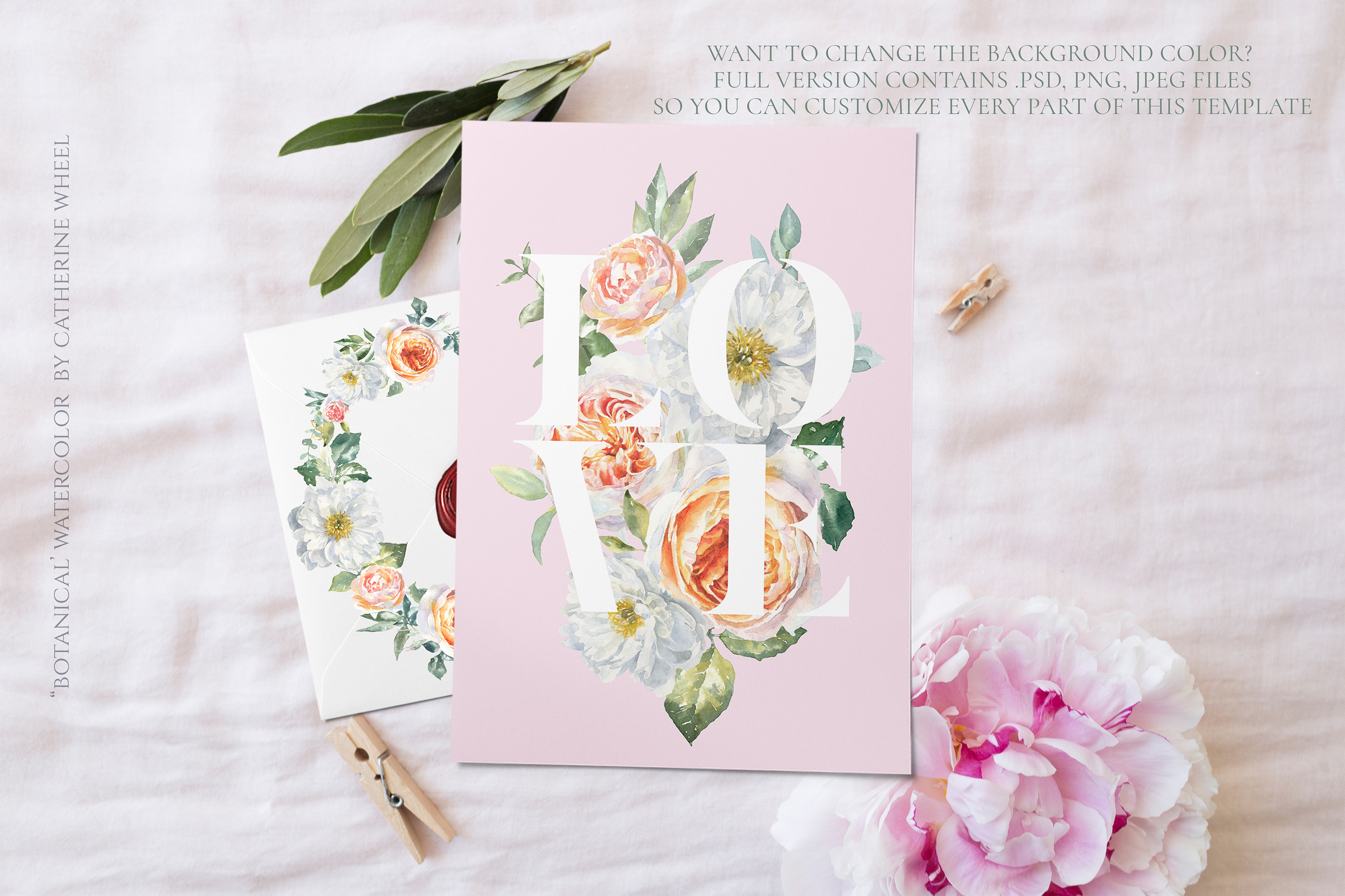 FREEBIE Floral Typography Free Botanical graphics example image 6