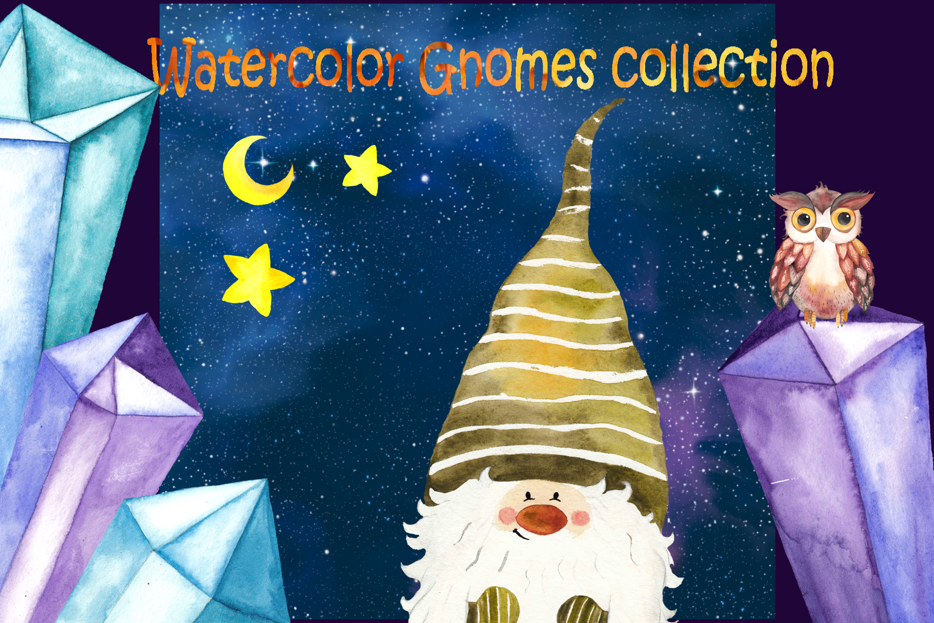 Watercolor Gnomes collection example image 10