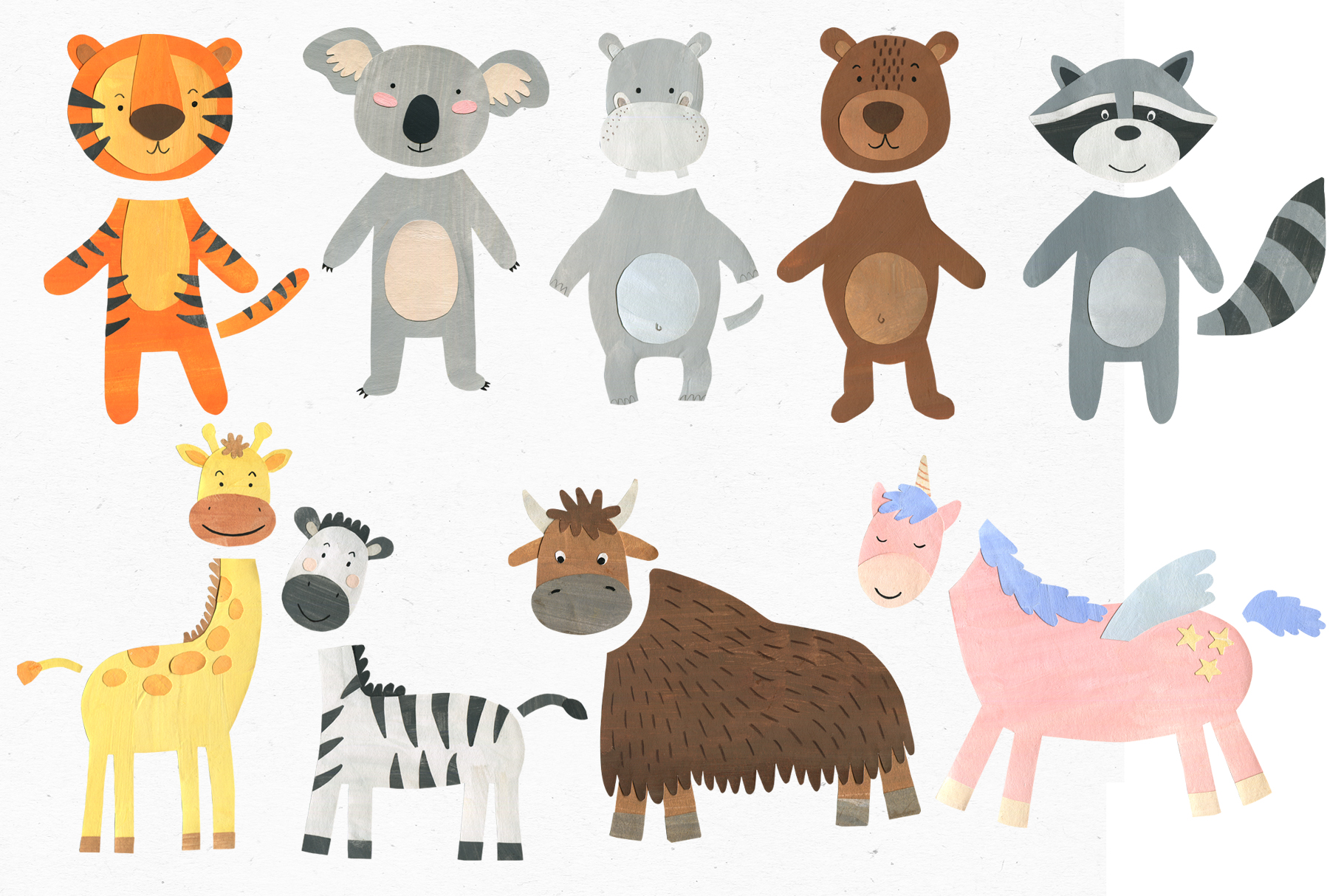 Papercut Animals Clipart example image 5