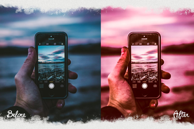 Pink presets rose mobile lightoom pastel presets filter example image 7