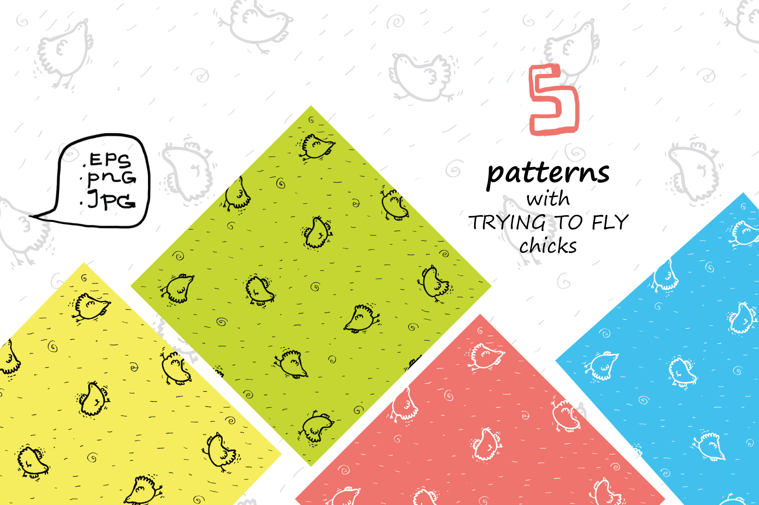 Wise Hens - 32 patterns, prints example image 4