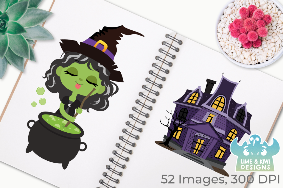 Witches Pantry Clipart, Instant Download Vector Art example image 3