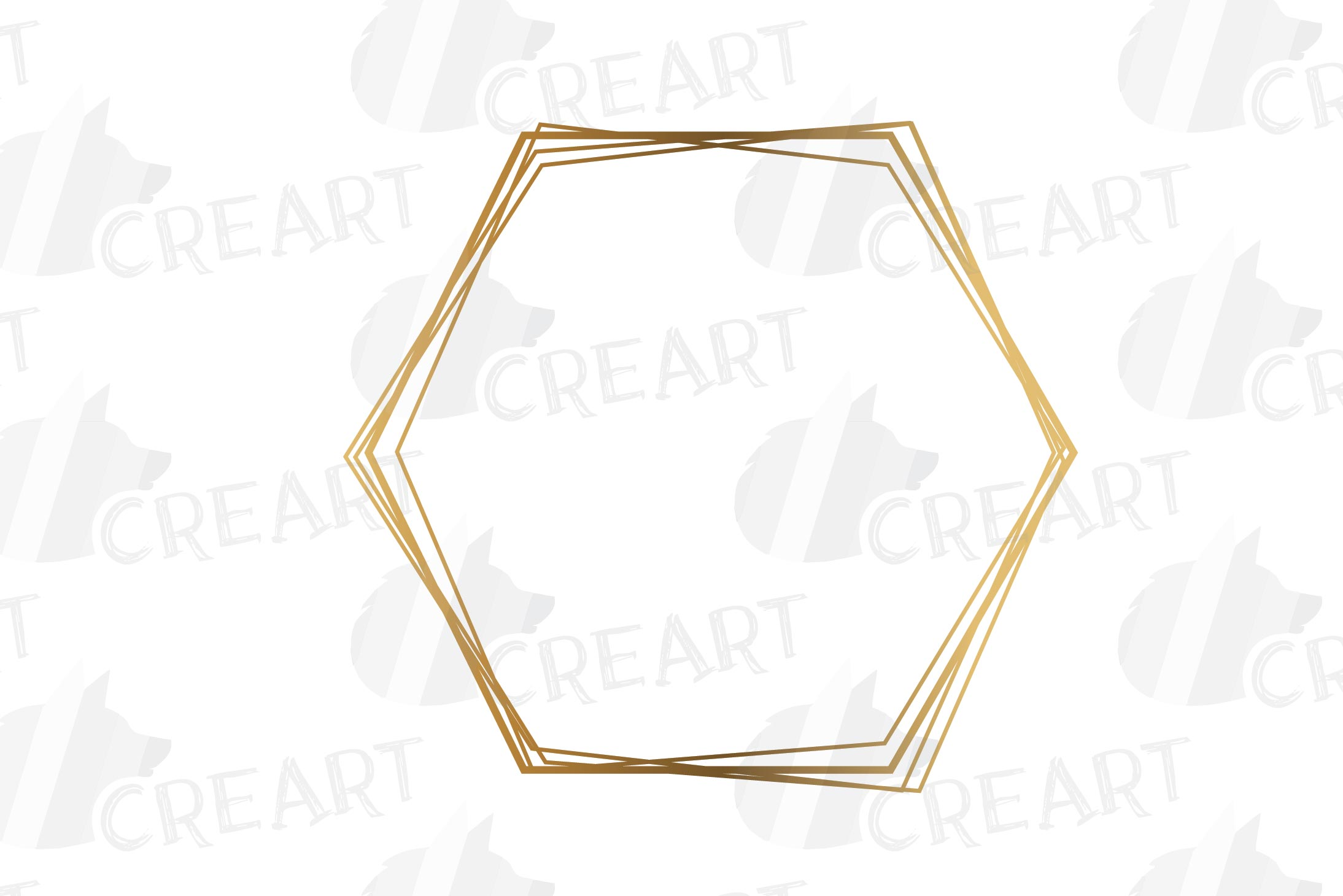 Elegant wedding geometric golden frames, lineal frames svg example image 8