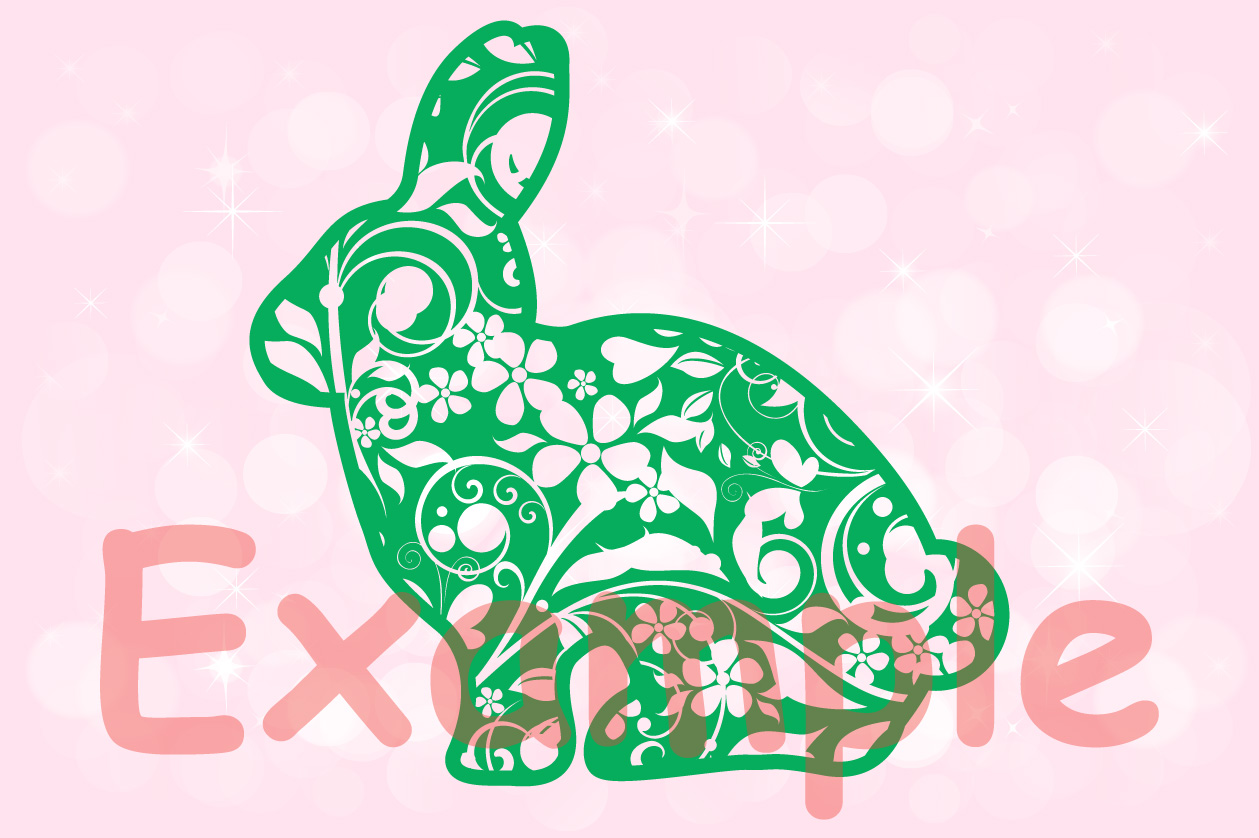 Easter bunny Flowers and hearts shirt bunny ears 636 example image 3