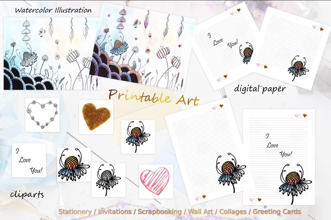 Floral Digital Paper example image 6