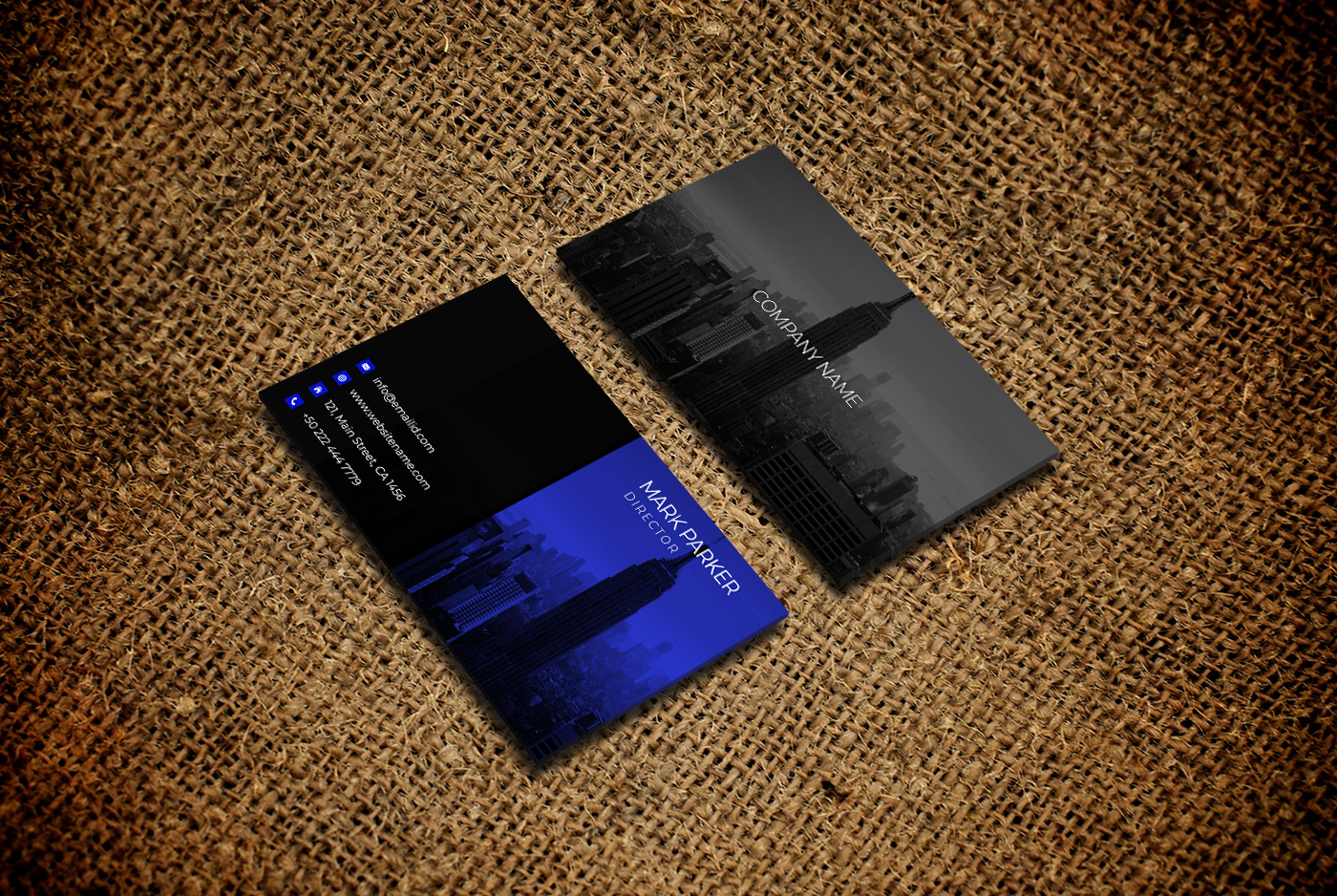 Corporate smart business card example image 2