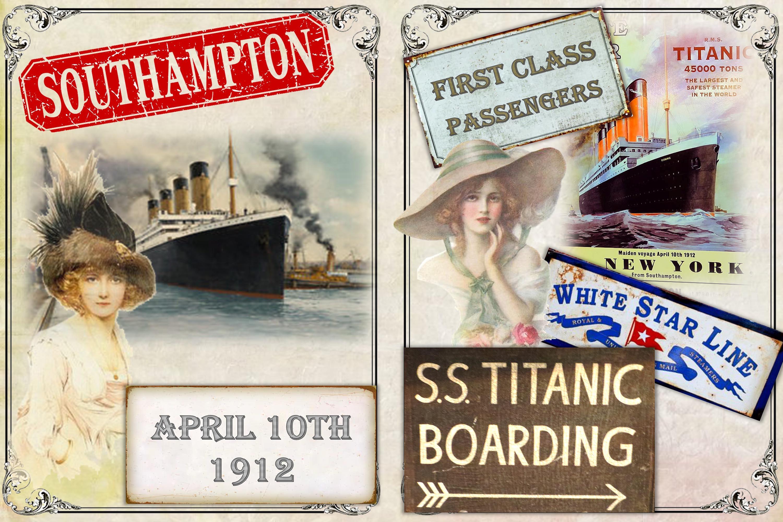 Titanic Journaling Kit with free ephemera JPEG, PDF and PNG example image 4