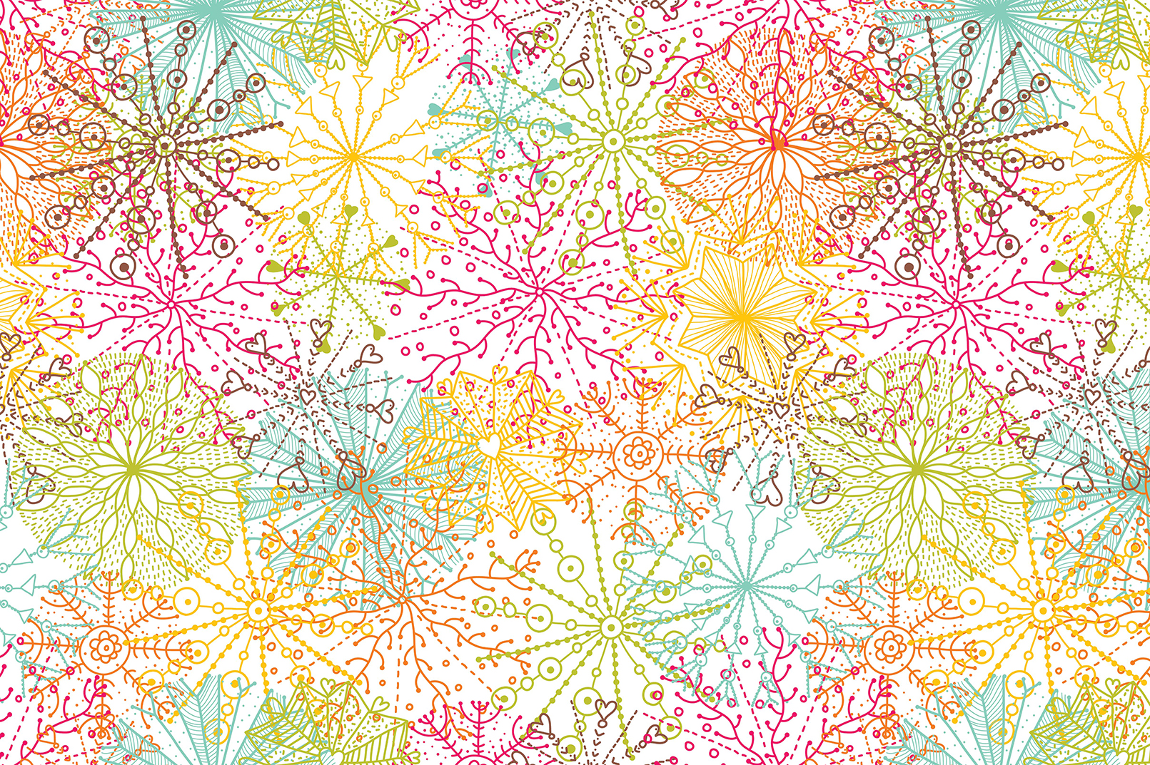 Snowflakes.Winter pattern. example image 2