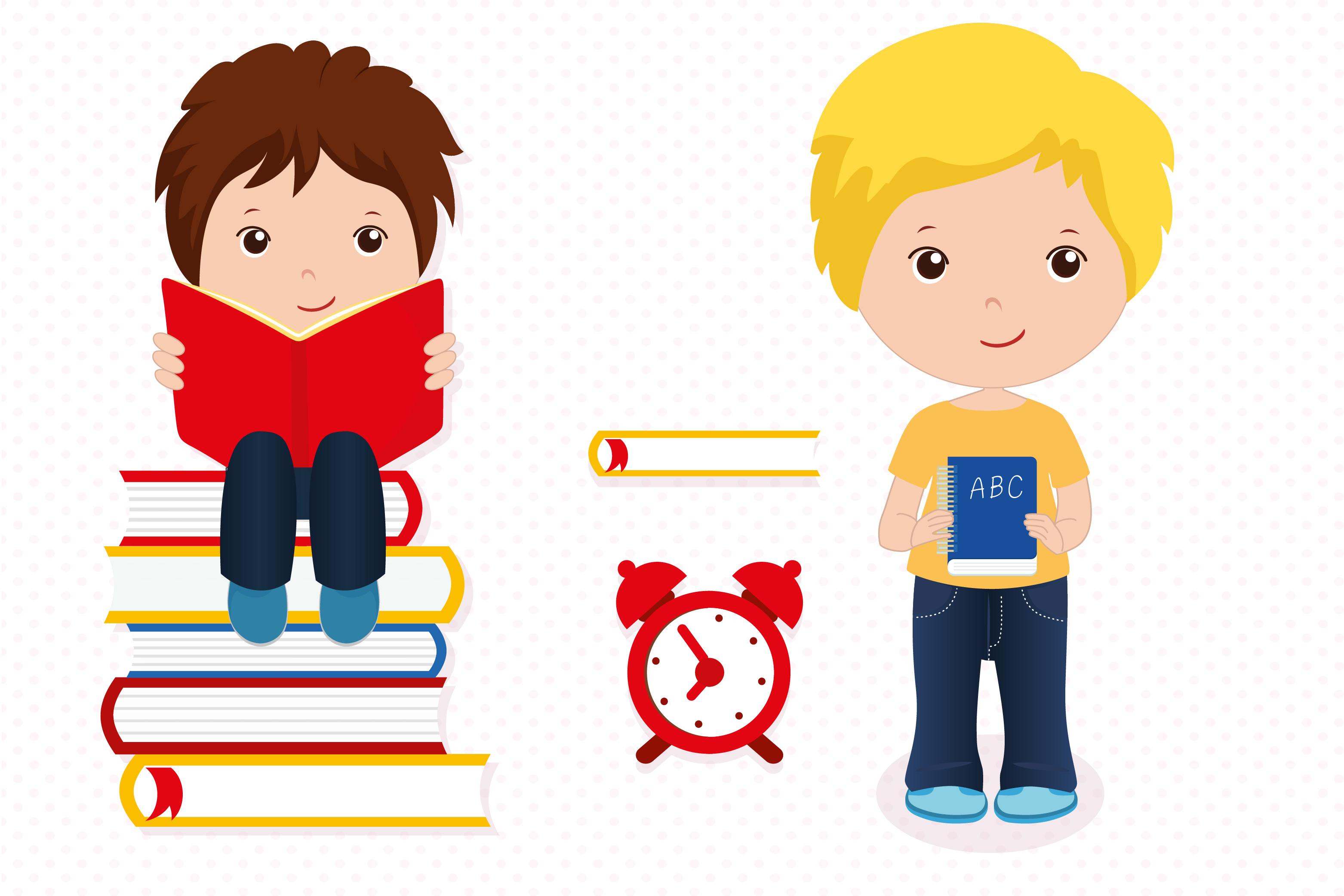 Boys in school graphics, School digital papers example image 4