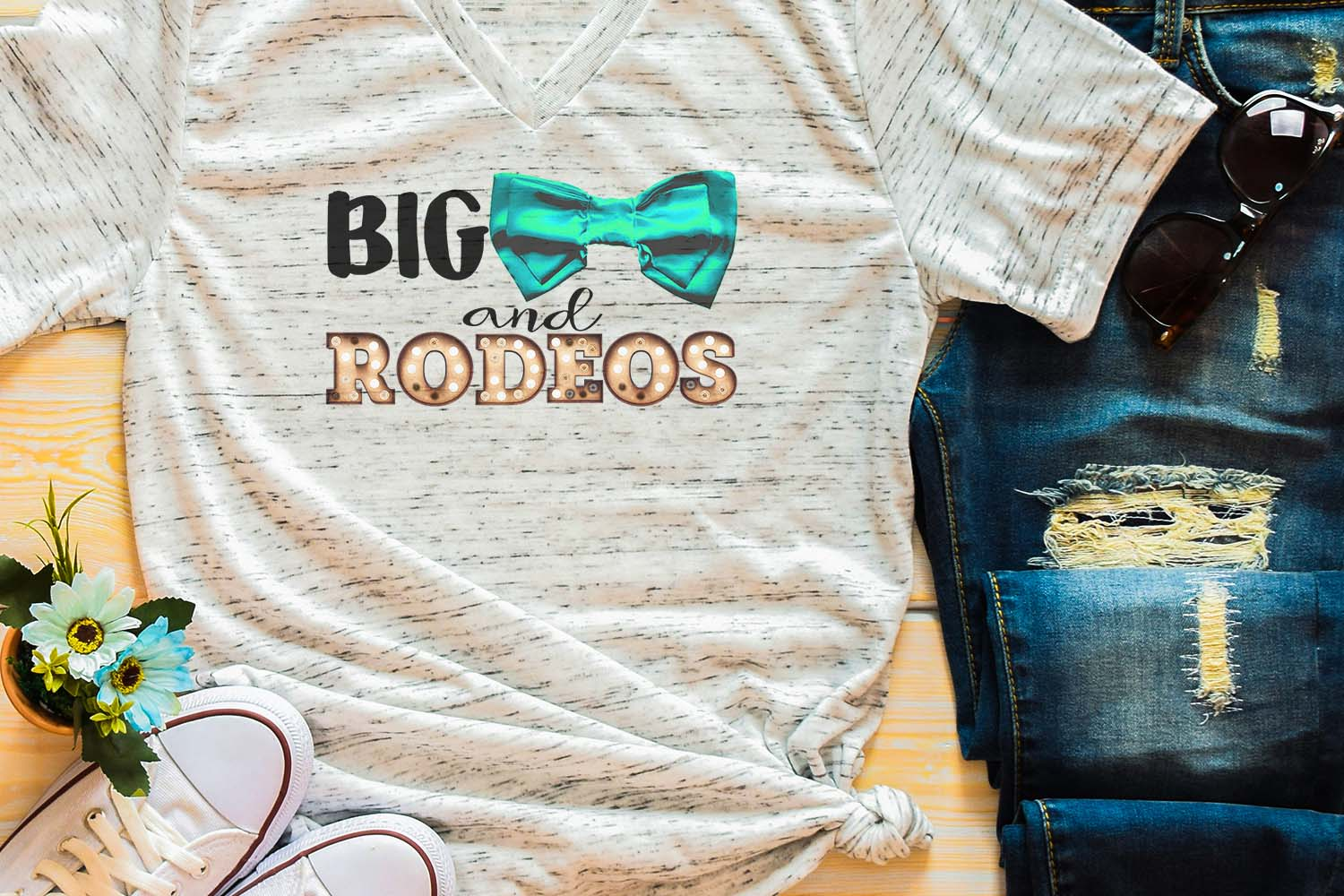 Big Bows & Rodeos Sublimation Digital Download example image 1