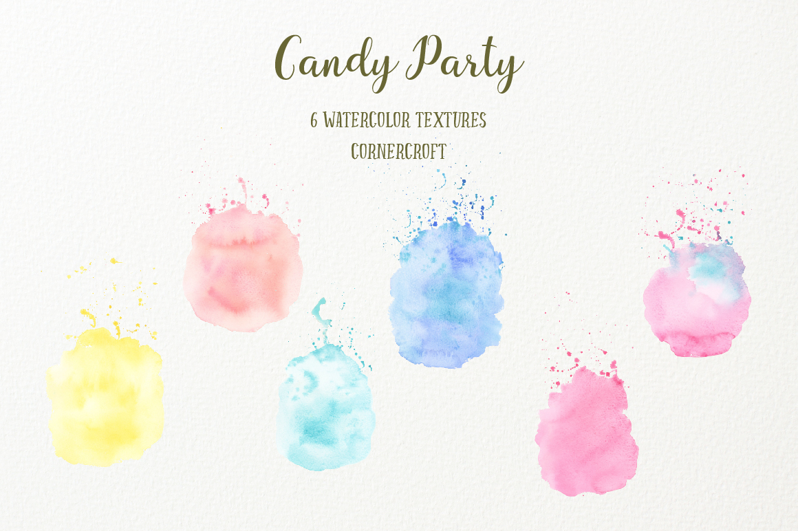 Watercolor Candy Party Clip Art  example image 6