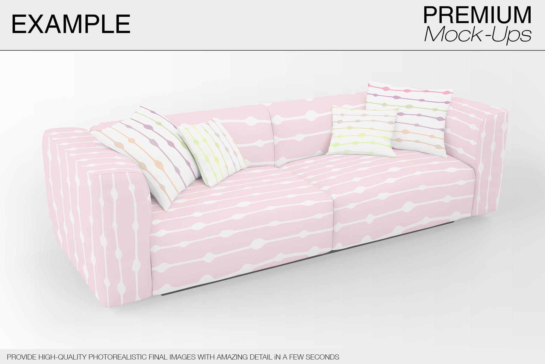 Sofa & Pillows Mockup Pack example image 2