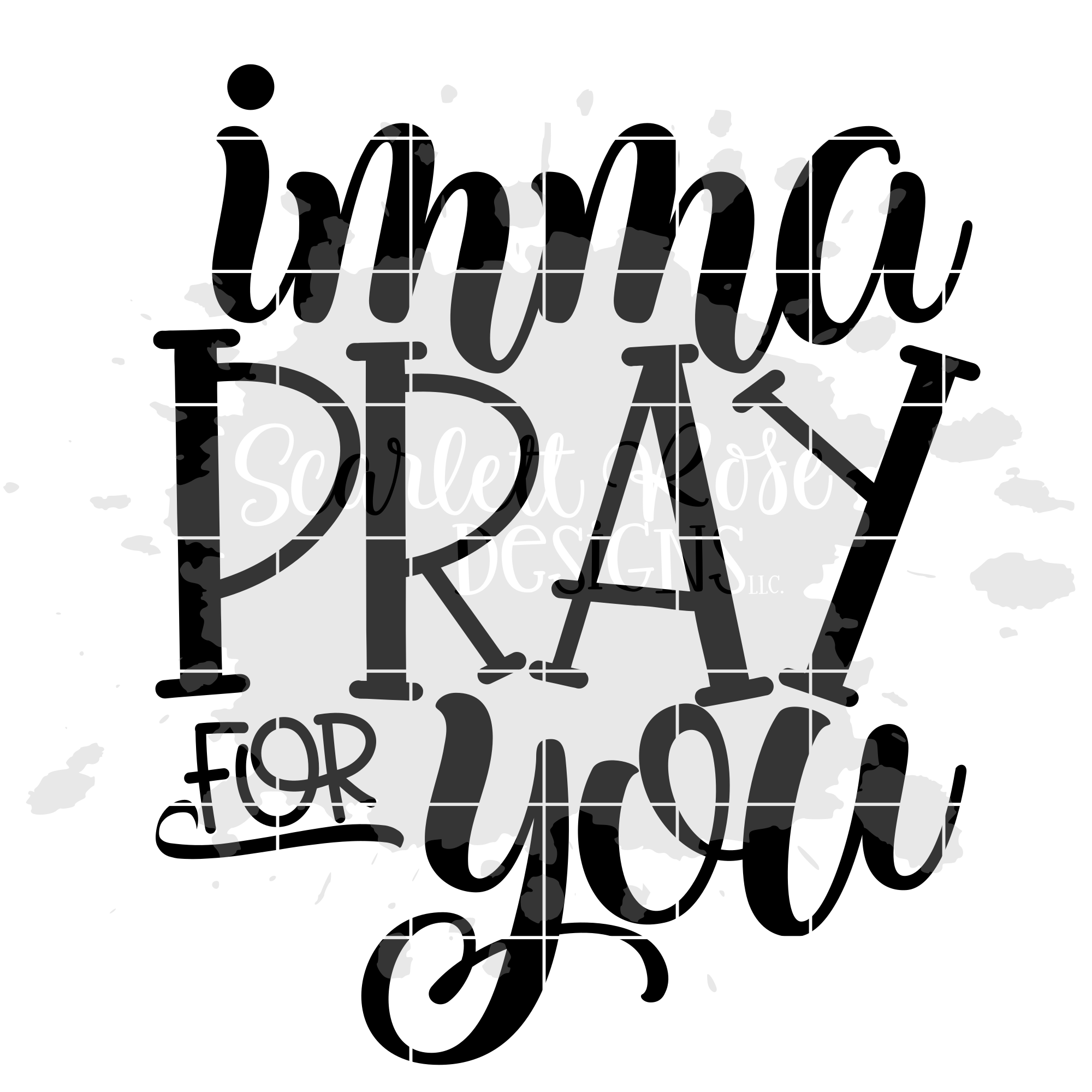 Imma Pray for You SVG example image 2