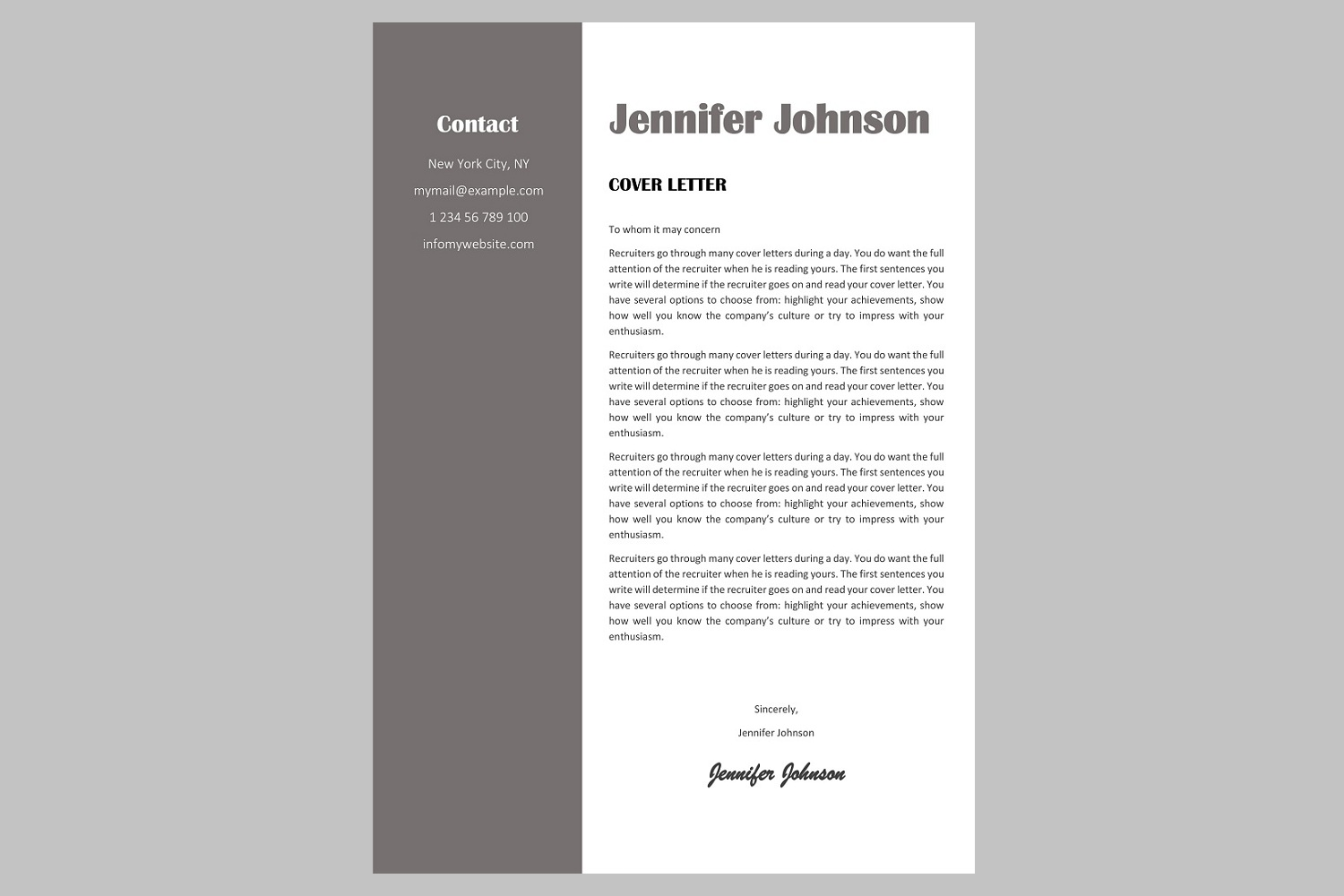 Creative resume template / CV. Bundle offer example image 8