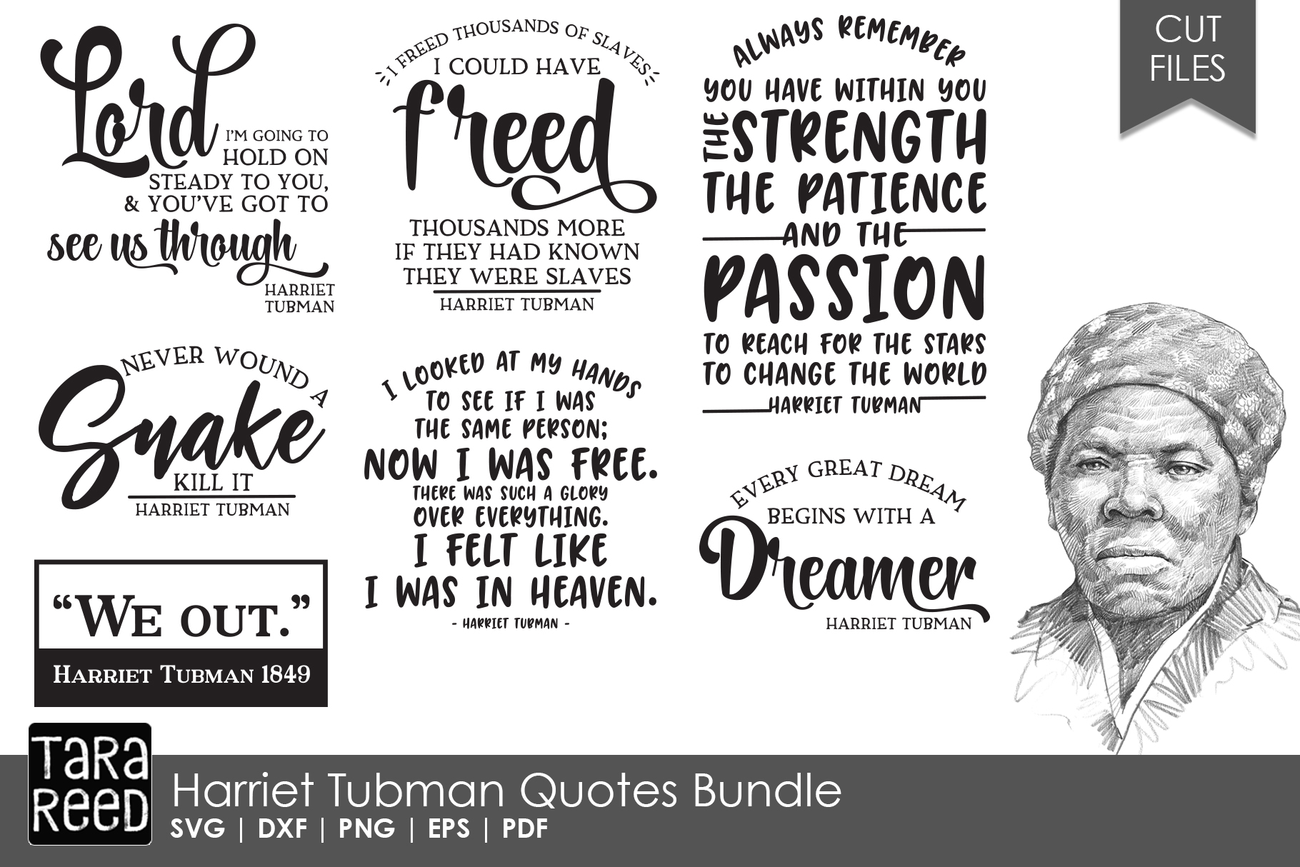 Harriet Tubman Quotes Bundle