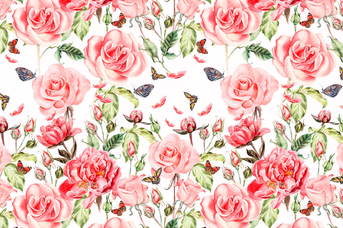Hand Drawn Watercolor PATTERNS example image 9
