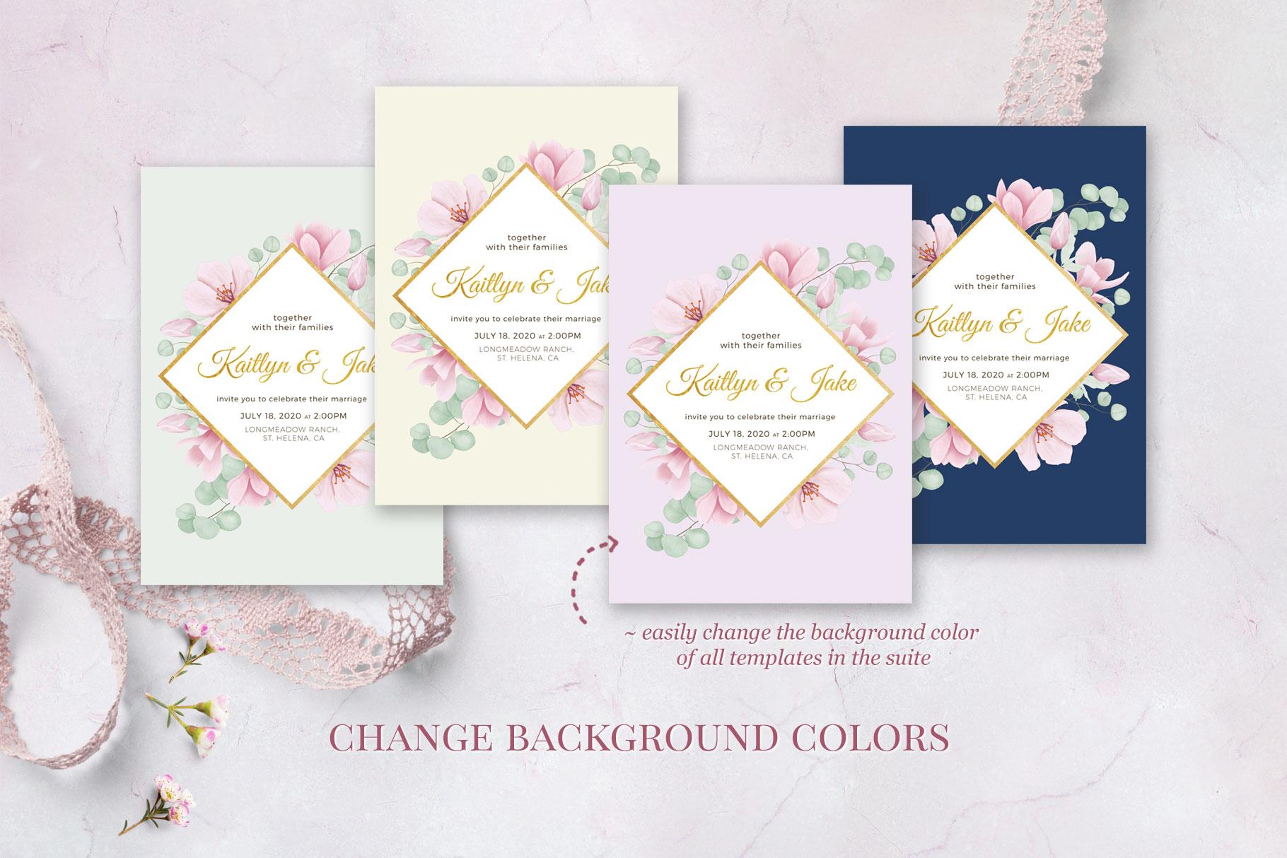 Magnolia & Eucalyptus Wedding Suite example image 6