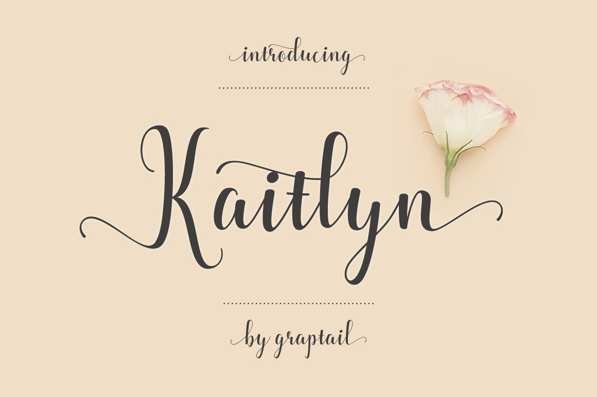 Kaitlyn Script example image 1