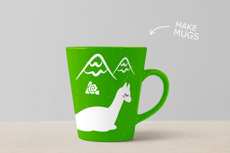 Alpaca Bundle SVG DXF EPS PNG example image 3