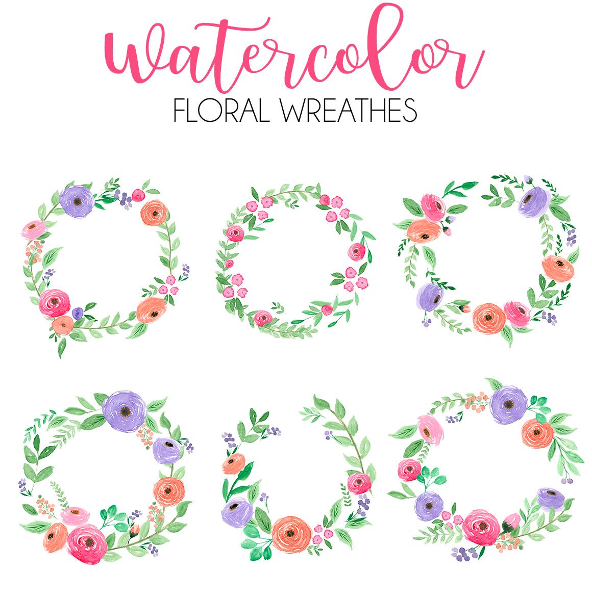 Watercolor fresh spring floral vol.2 example image 3