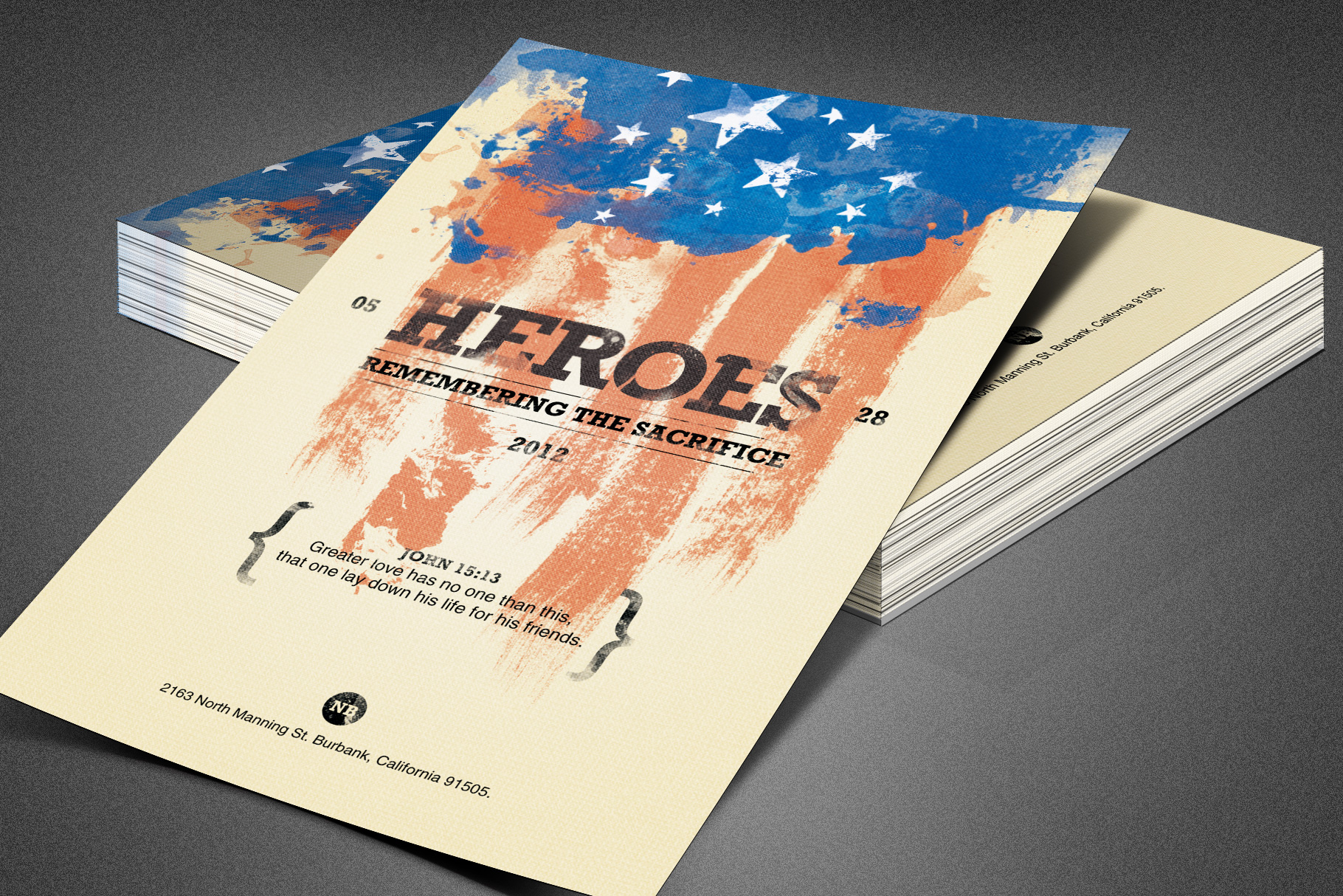 Heroes Memorial Day Flyer Template example image 1