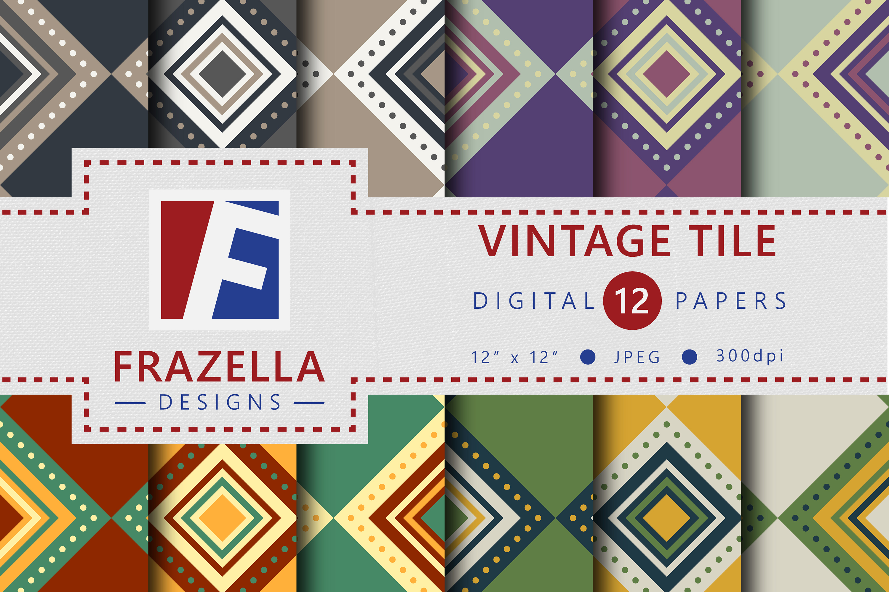 The ULTIMATE Digital Paper Collection Retro Edition Vol. 2. example image 11