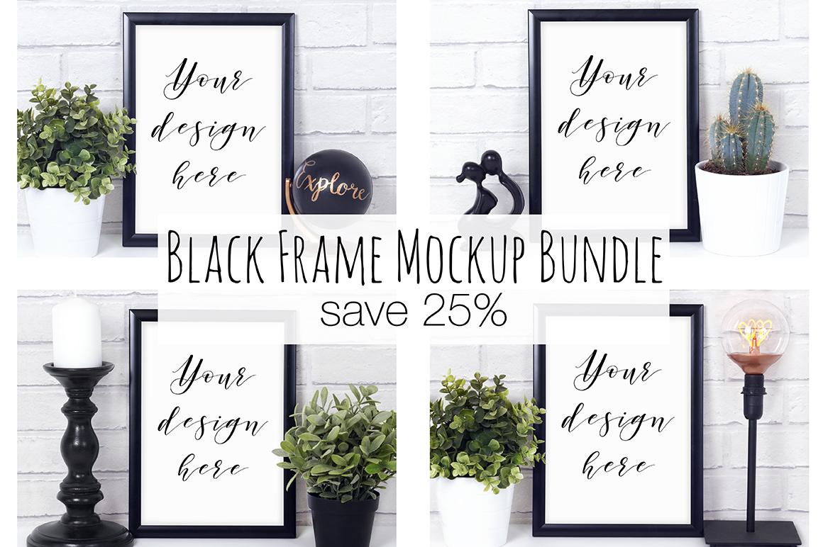 Black Frame Mockup Photography Bundle example image 1
