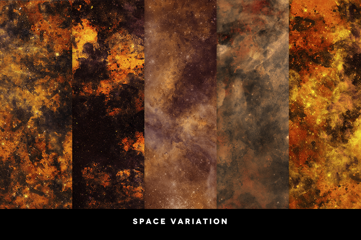 Inked Space (10 Creative Textures) example image 4