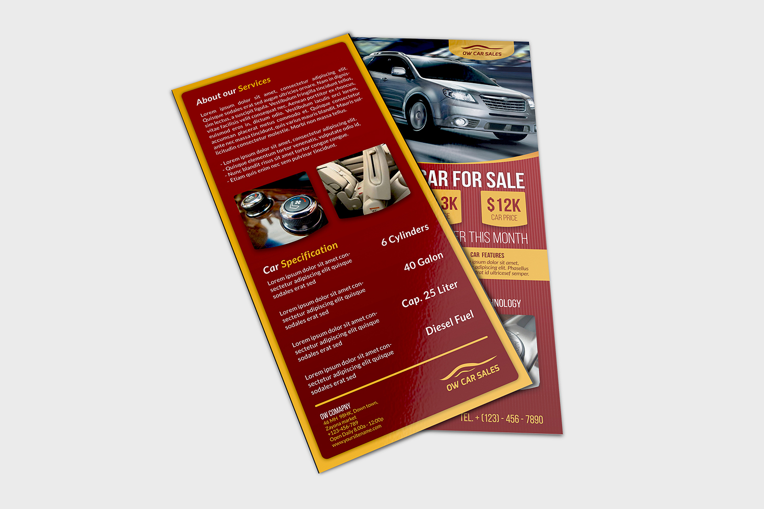 Car for Sale Flyer DL Size Template example image 3