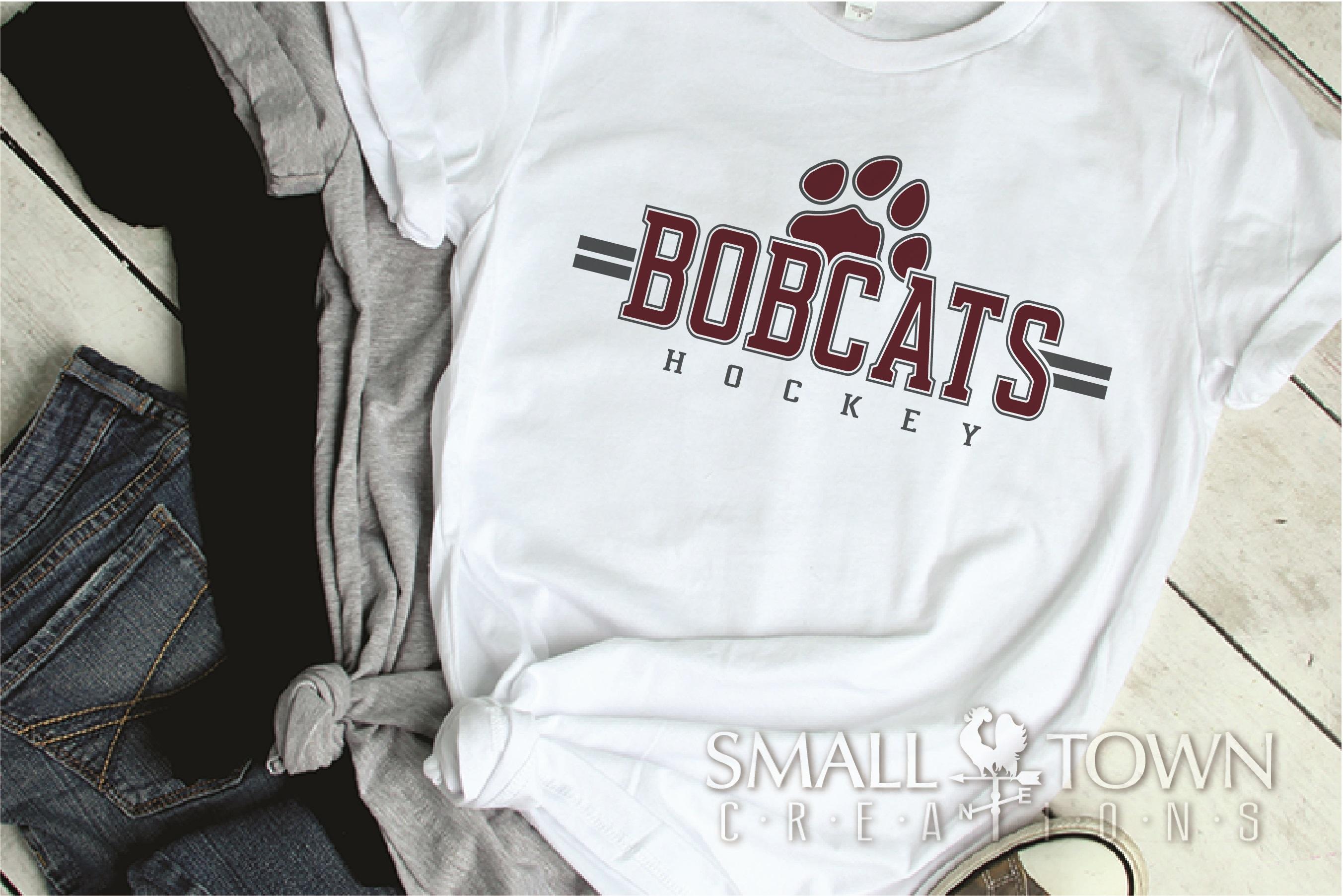 Bobcat Hockey, Paw Print, Sport, Team, PRINT, CUT & DESIGN example image 2