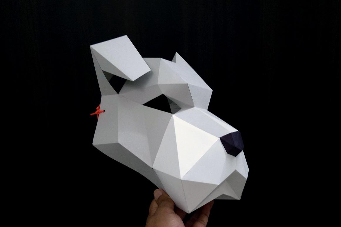 DIY Schnauzer Mask - 3d papercraft example image 5