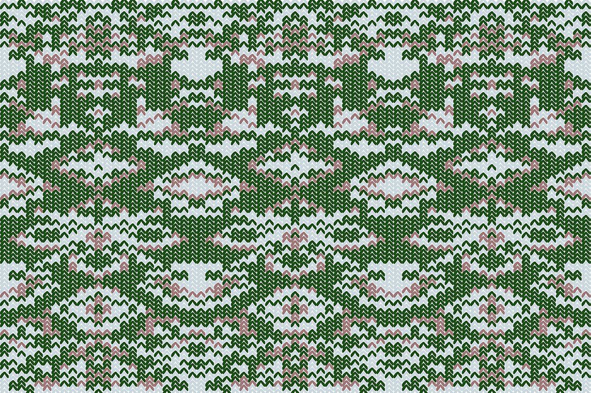 Christmas wool seamless pattern set. example image 4