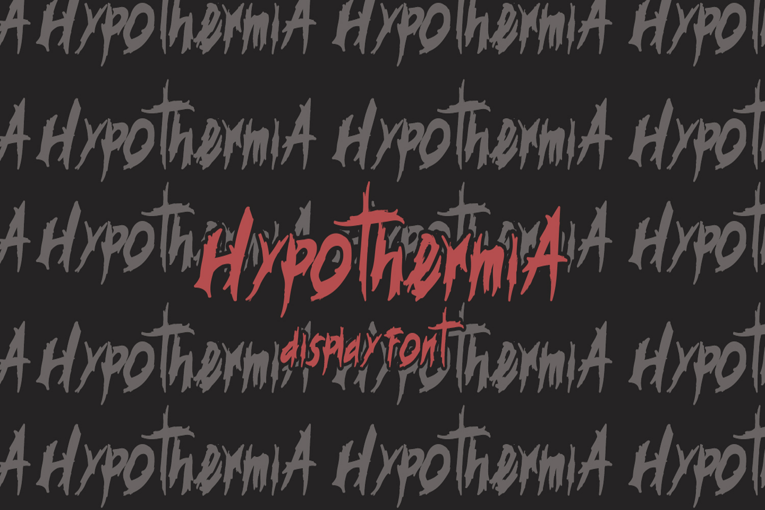 Hypotermia Display Font example image 2