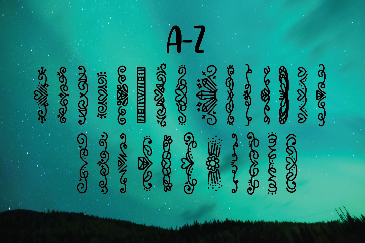Storybook Banners - A Dingbat Font Full of Magical Borders example image 9