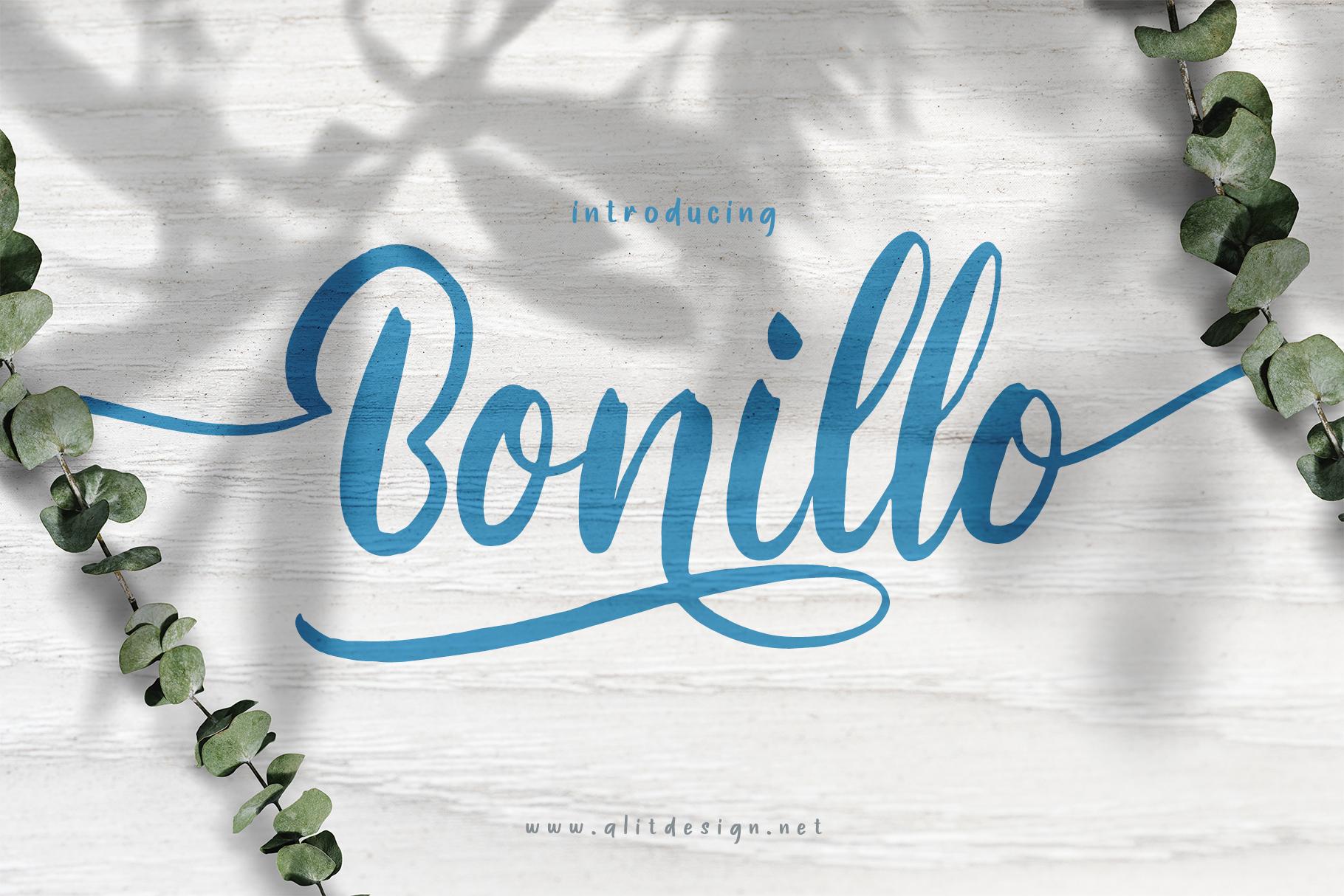 Bonillo font example image 1