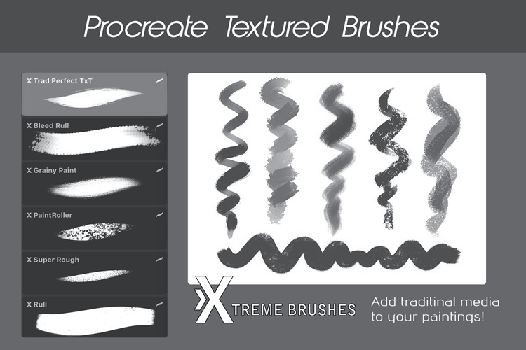 Procreate Texture Brushes example image 3