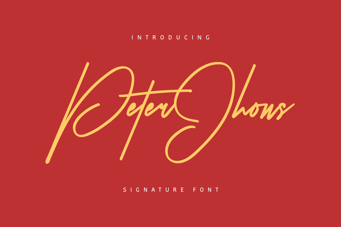 Peter Jhons - Signature Font example image 1
