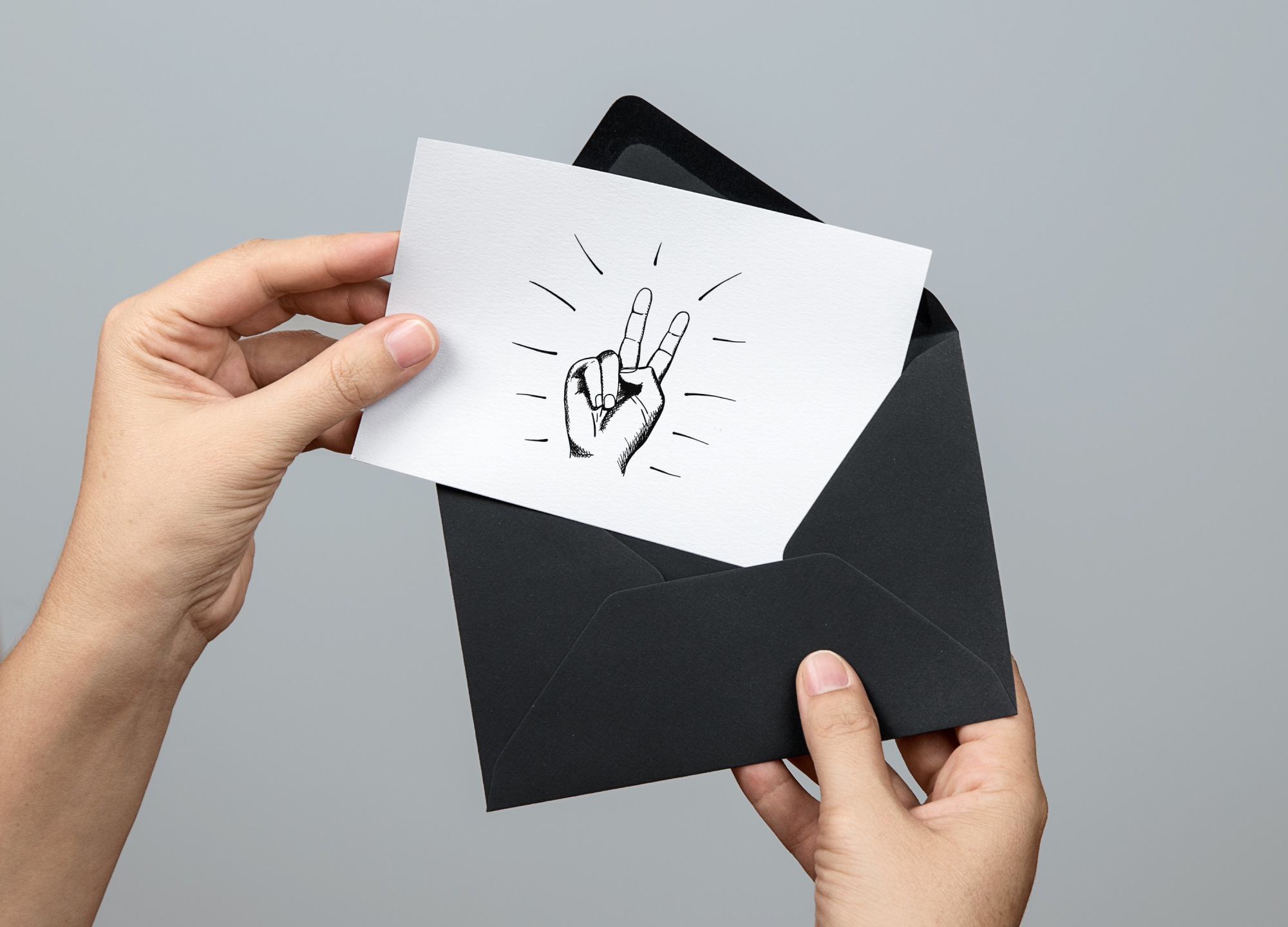 Hand drawn human hands signs example image 3