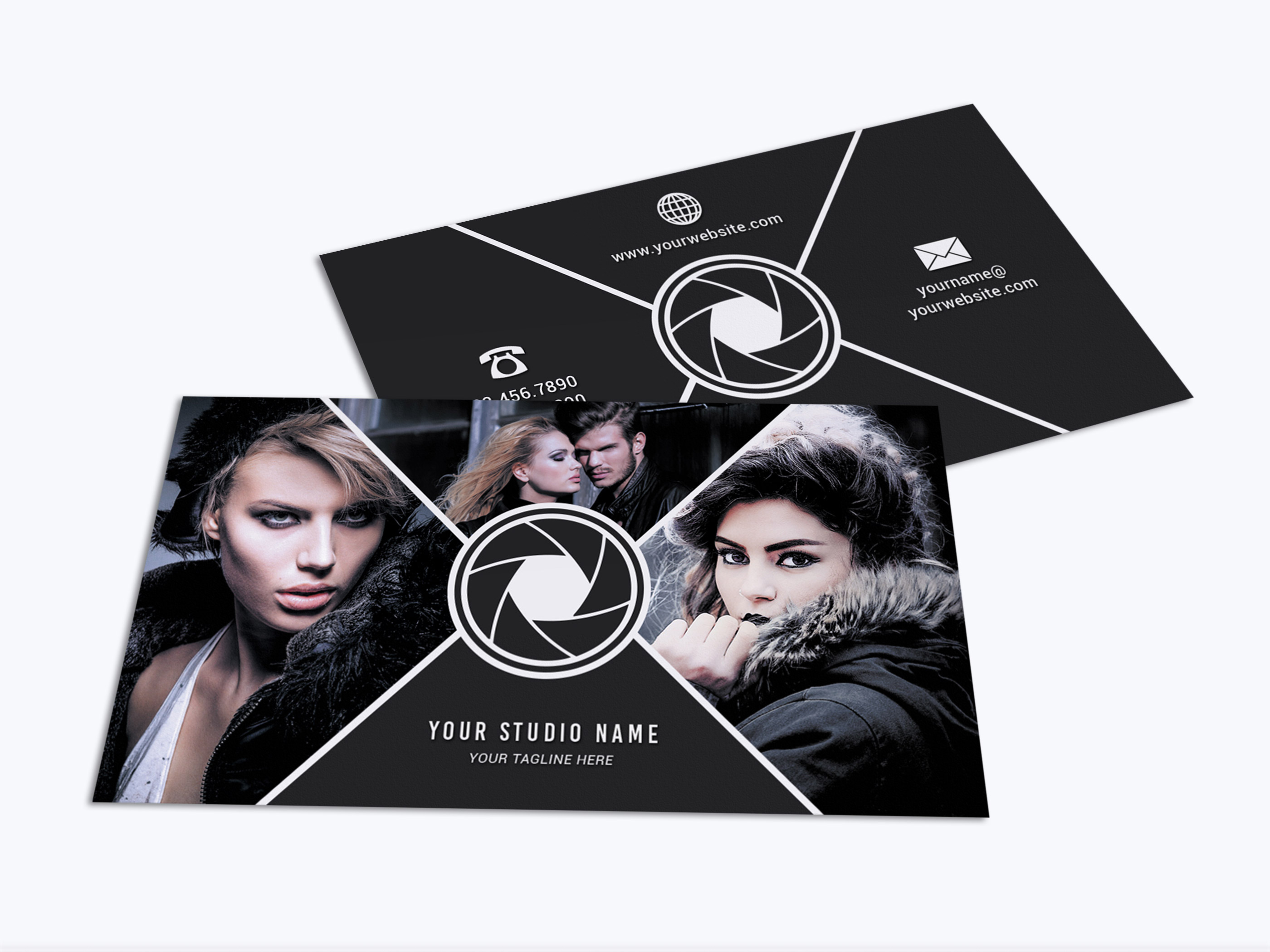 Business Card Template 017 Photoshop example image 2