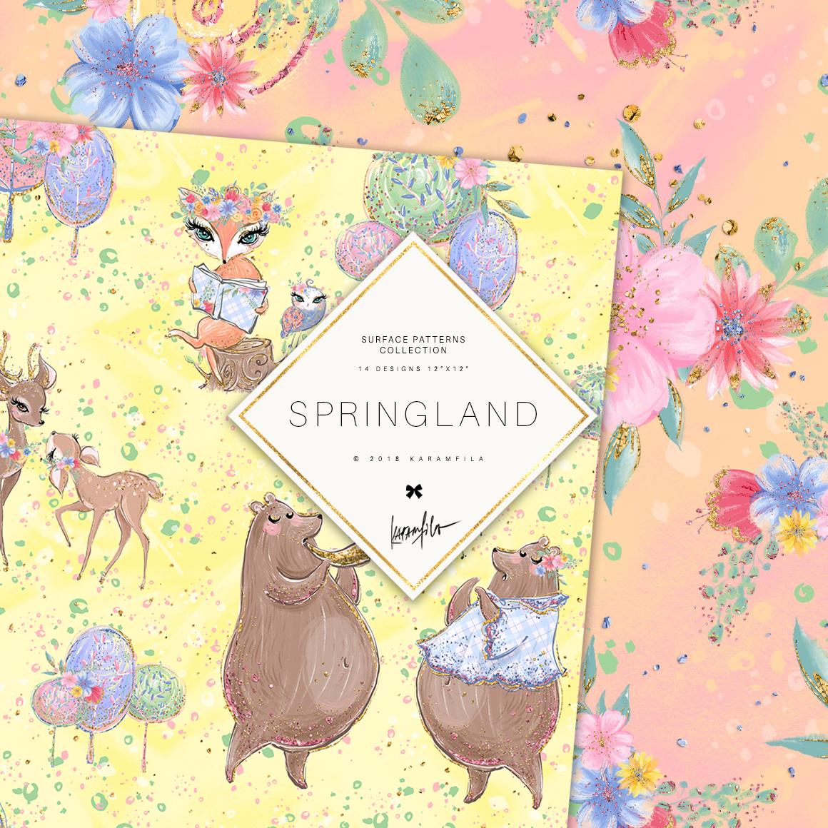 Spring Woodland Patterns example image 2